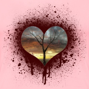 bleeding heart Women's T-Shirts - Women's Premium T-Shirt