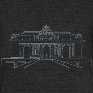 Grand Central Terminal New York T-Shirts - Unisex Tri-Blend T-Shirt by American Apparel