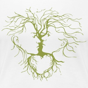 Yoga Beautiful Tree - Women's Premium T-Shirt