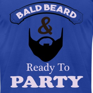 Bald Beard Ready to Party T-shirt Man  - Men's T-Shirt by American Apparel
