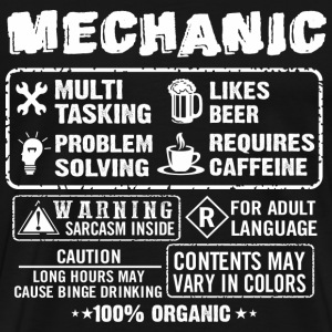 funny mechanic, mechanics, mechanical engineering - Men's Premium T-Shirt