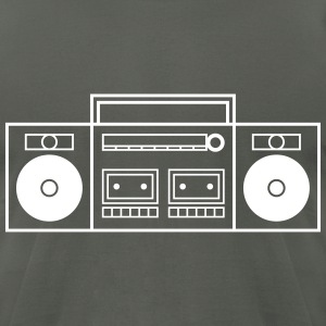 Ghetto Blaster Stereo T-Shirts - Men's T-Shirt by American Apparel