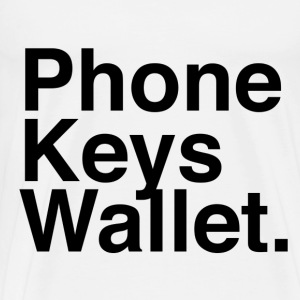 Phone Keys Wallet - Men's Premium T-Shirt