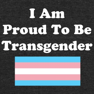 transpride flag T-Shirts - Unisex Tri-Blend T-Shirt by American Apparel