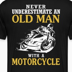 OLD MAN WITH A MOTORCYCLE