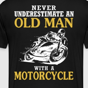 OLD MAN WITH A MOTORCYCLE - Men's Premium T-Shirt