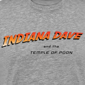 Indiana Dave and the Temple of Poon - Men's Premium T-Shirt