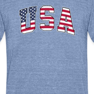 USA - Unisex Tri-Blend T-Shirt by American Apparel