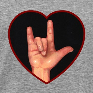 I Love You, Hand in Heart, American Sign Language - Men's Premium T-Shirt