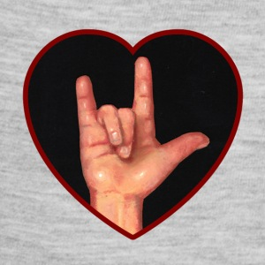 I Love You, Hand in Heart, American Sign Language - Baby Contrast One Piece