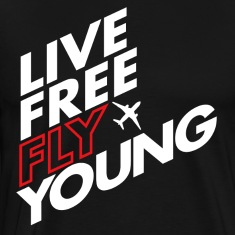Live Free Fly Young WHITE/RED