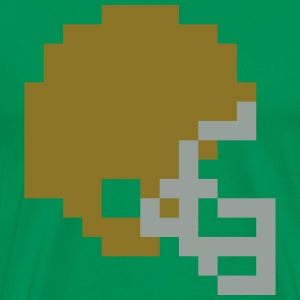 Tecmo Bowl Style Irish Gold Helmet t-shirt - Men's Premium T-Shirt