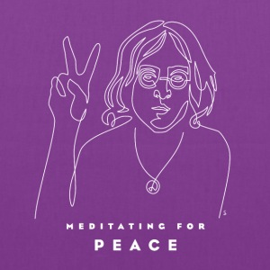 Meditating for Peace II - Tote Bag