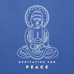 Meditating for Peace III - Tote Bag