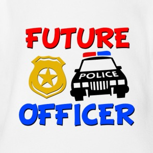 Future Police Officer Baby Shirt - Short Sleeve Baby Bodysuit