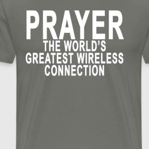 prayer_the_worlds_greatest_wireless_connection - Men's Premium T-Shirt