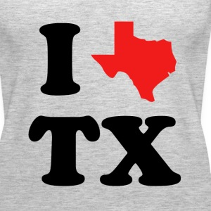 I Love Texas funny shirt - Women's Premium Tank Top