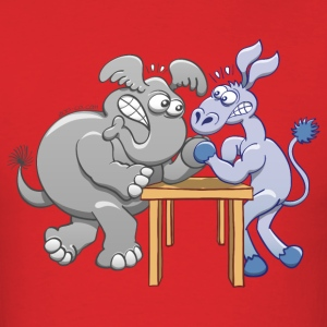 Arm Wrestling Donkey vs Elephant T-Shirts - Men's T-Shirt