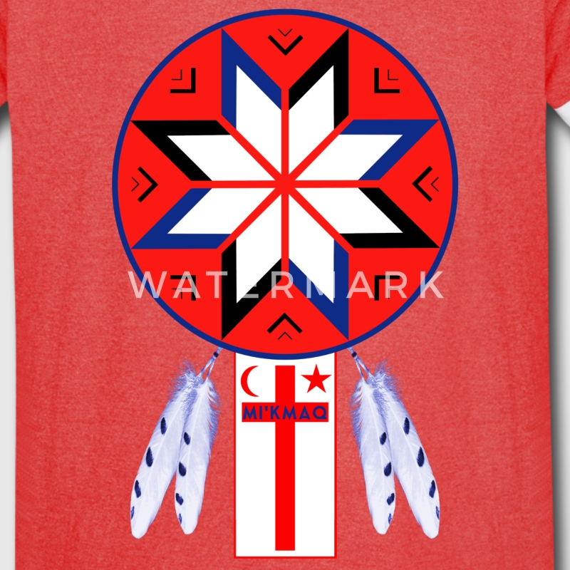 Tripartite Mi'Kmaq Forum Symbol and Flag - Vintage Sport T-Shirt