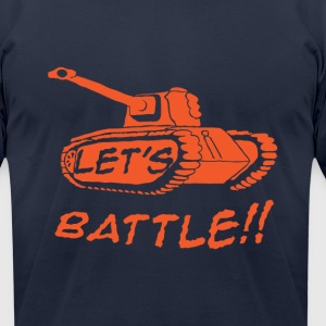 Let's Battle!! T-Shirts - Men's T-Shirt by American Apparel