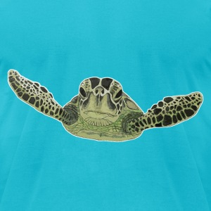 Green sea turtle  - Men's T-Shirt by American Apparel