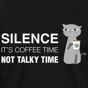 Cat and Coffee - Silence T-Shirts - Men's Premium T-Shirt