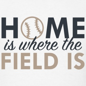 Home Is Where The Field Is - Men's T-Shirt