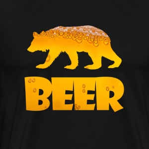 BEAR BEER DRUNK FUNNY T-Shirts - Men's Premium T-Shirt