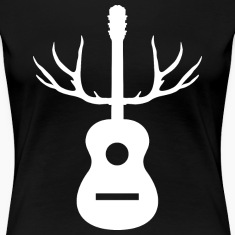 White Antlers Acoustic Guitar
