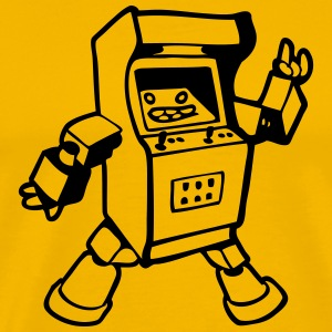fun  geek arcade gamer  T-Shirts - Men's Premium T-Shirt