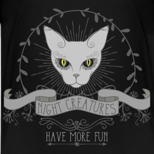 cat__night_creatures_have_more_fun_03201 Kids' Shirts - Kids' Premium T-Shirt