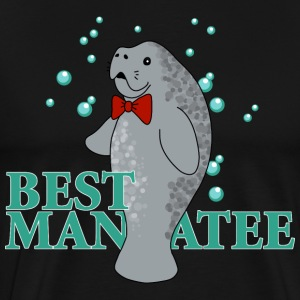 Wedding Manatee, Best Man - Men's Premium T-Shirt