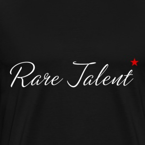 Rare Talent White Text - Men's Premium T-Shirt