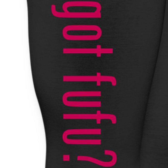 Womens Leggings - Black - Got Fufu - Hot Pink