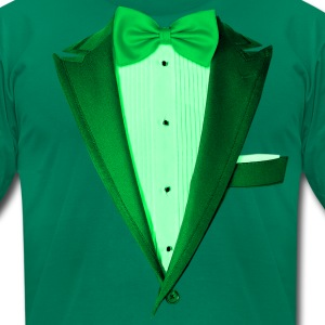 Green St.Paddy's DayTuxedo T-Shirts - Men's T-Shirt by American Apparel