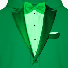 Green St.Paddy's DayTuxedo Hoodies
