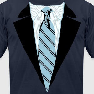 Suit and Tie Tee, Coat and Tie T-shirt T-Shirts - Men's T-Shirt by American Apparel