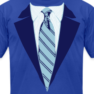 Design ~ Blue Coat and Tie with Striped Suit and tie.