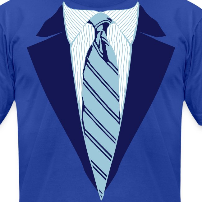 Blue Coat and Tie with Striped Suit and tie.