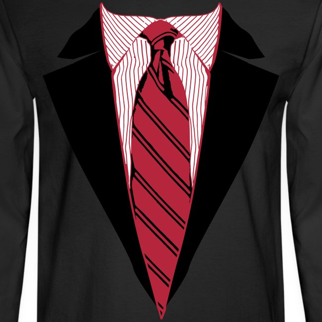 Coat and Tie with Striped Suit and tie.