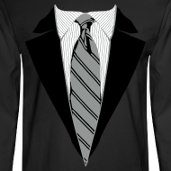 Design ~ Coat and Tie with Striped Suit and tie.