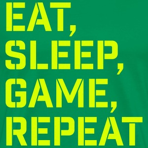 Eat Sleep Game Repeat - Men's Premium T-Shirt
