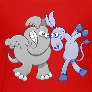 Elephant and Donkey Face to Face Kids' Shirts - Kids' Premium T-Shirt