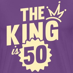 THE KING IS 50 T-Shirts - Men's Premium T-Shirt