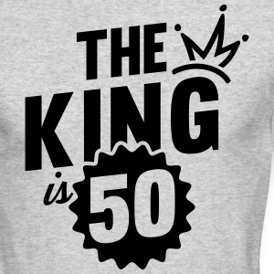 THE KING IS 50 Long Sleeve Shirts - Men's Long Sleeve T-Shirt by Next Level