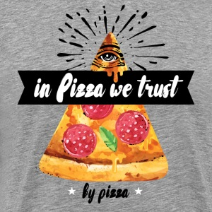 In Pizza We Trust - Men's Premium T-Shirt