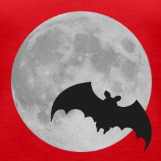 full moon flying bat halloween  Tanks