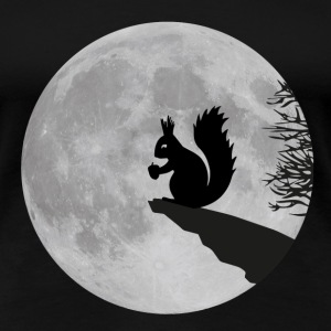 full moon squirrel acorn night Women's T-Shirts - Women's Premium T-Shirt