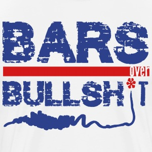 Bars Over Bullsh*t (Rap/Hip-Hop) T-Shirts - Men's Premium T-Shirt