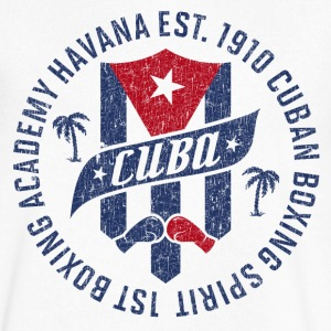 CUBA BOXING ACADEMY T-Shirts - Men's V-Neck T-Shirt by Canvas